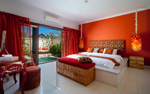 interior design, red, rooms