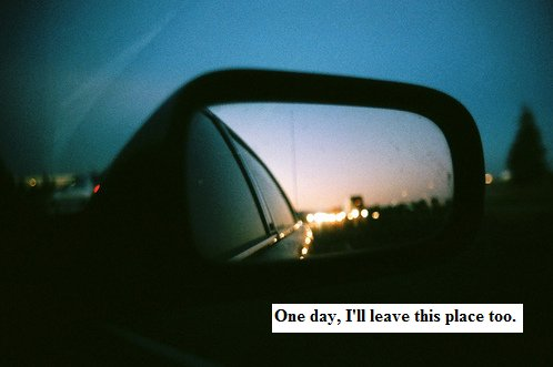 leave, photography, rear view mirror, text