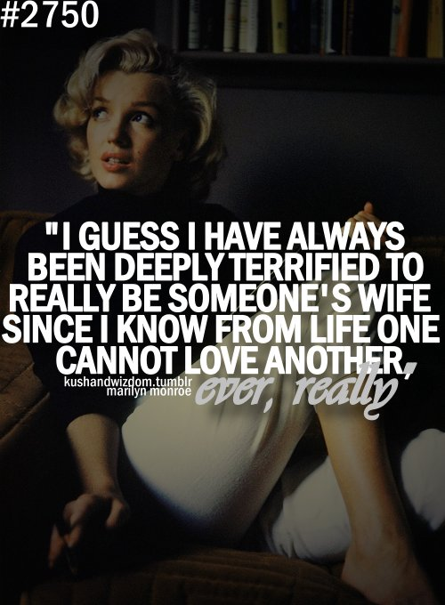 love forever, marilyn monroe, phrases, wife