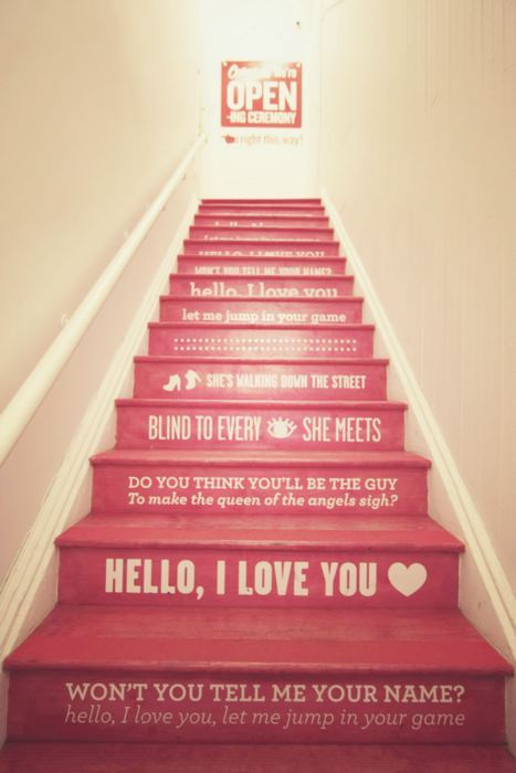 lyrics, stairs, text