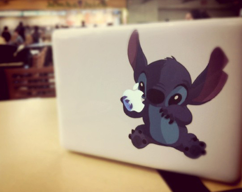 *-*, apple, cute stich, disney, lilo e stitch