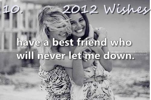 2012, 2012 wishes, best friend, girls , happines