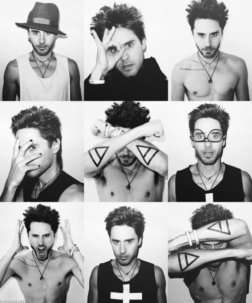 30 seconds to mars, 30 stm, actor, amazing, aww, beautiful, black and white, body, boy, cute, fashion, glasses, gorgeous, hair, i love this guy, jared, jared leto, man, photography, sexy, singer, style, tattoo