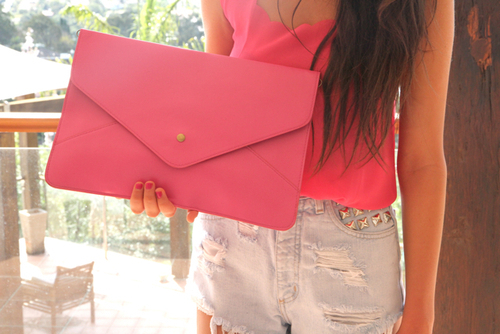 accessories, blouse, casual, classic, clothes, coral, cute, fashion, gurl, outfit, pink, pretty, shorts, studs, style, tank top, trend, trendy, vintage