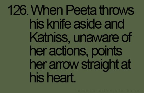 actions, arrow, heart, katniss, knife
