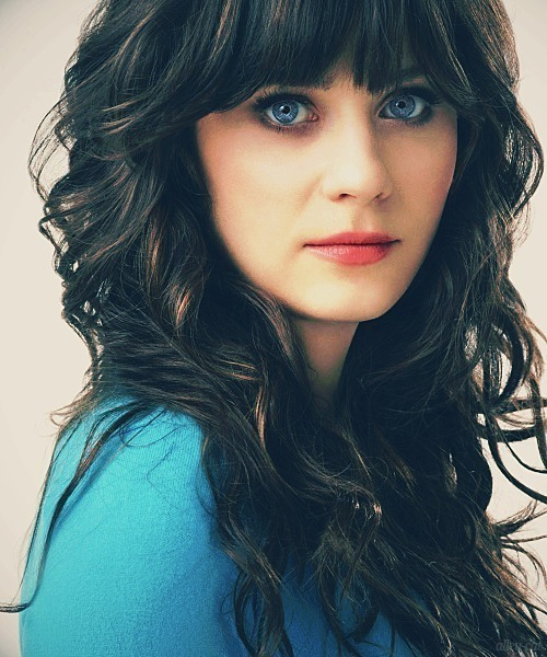 actress, blue, brunette, eye, zoey deschanel