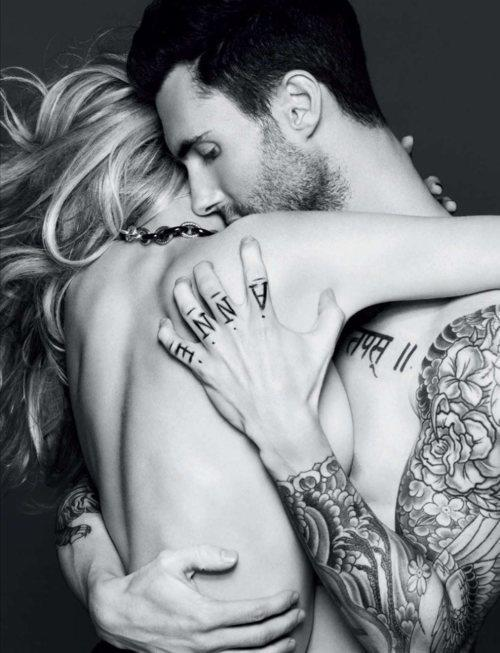 adam levine, boyfriend, couples, love, tattos