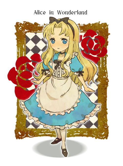adorable, alica, alice in wonderland, amazing, anime, art, beautiful, draw, cute, perfect, k4w4ii favorite, image, illustration, kawaii, blonde dress, fashion, female, girl, style