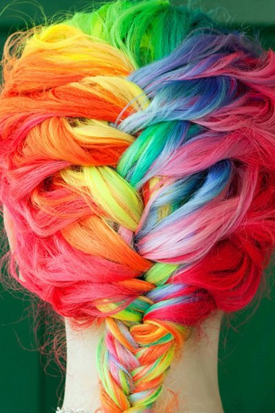 adorable, amazing, colorful, colorful hair, colors