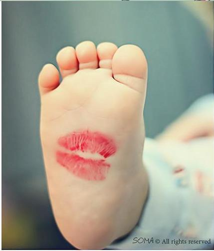 adorable, babies, baby, foot, kiss