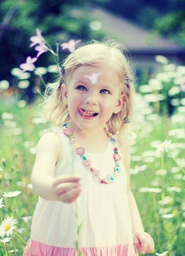 adorable, beautiful, blonde, children, colorfull, flower, girl, necklace, perfect, photo, photography, vintage