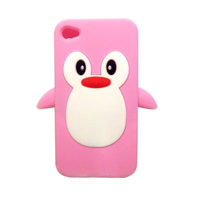 adorable, cute, lovely, nice, penguin, pink, telephone