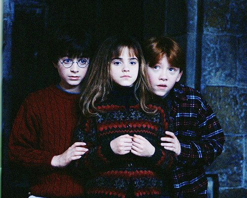 afraid, autographs, black and white, children, cute, daniel radcliffe, emma, emma watson, famous, friendship, harry, harry potter, harry ron and hermione, hermione, hermione granger, kids, little, ron, ron wealsy, ronald weasly, rowling, rupert