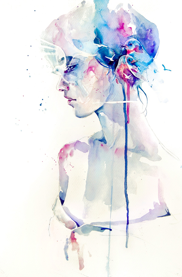 agnes-cecile, blue, colors, flow, loss