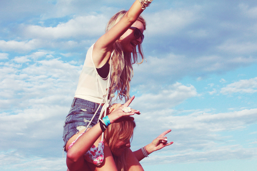 air, friends, fun, hands, smile