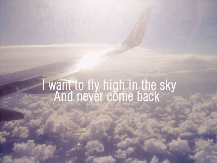 airplane, back, clouds, come, come back