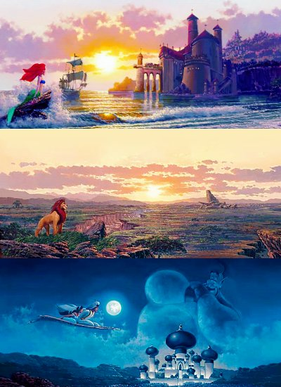aladdin, art, beautiful, disney, the lion king, the little mermaid