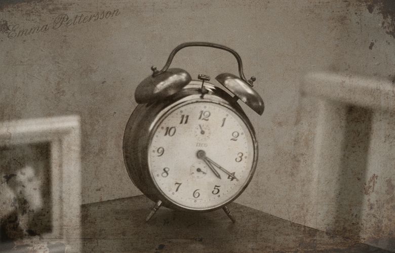 alarm clock, clock, love, old-fashioned, sepia