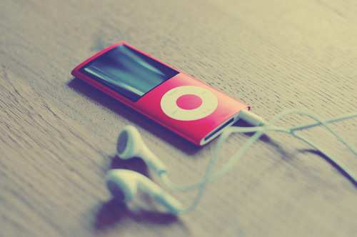 album, color, colorful, edge, fashion, floor, ipod, music, red, retro, songs, style, vintage, wood