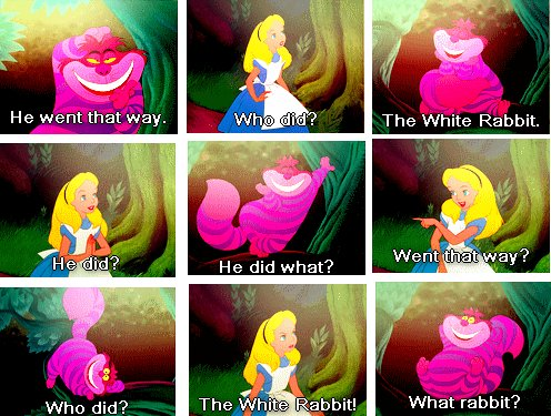 alice in wonderland, cheshire cat, lol, white rabbit
