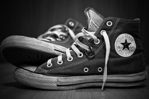 all star amazing black black and white converse