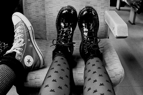 all star, black and white, boots, converse, girls