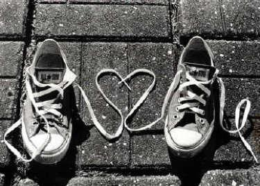 allstar, black and white, heart, shoes