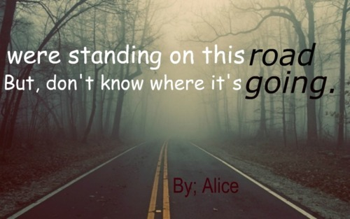 alone, clueless, dark, going, lyrics, night, photo, photograph, photography, quote, quotes, road, scary, standing, tree, wood
