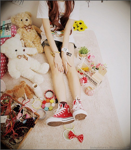 alone, converse, cute, fashion, girl