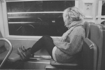 alone, fashion, girl, metro