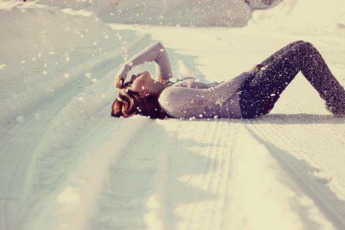 alone, girl, lonely, snow