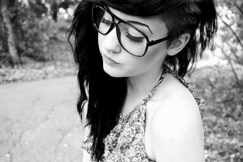 alternative, alternative girl, b&w, black and white, black hair
