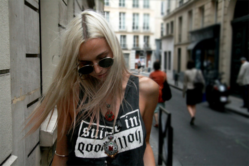 alternative, blonde, cute, girl, glass, hair, hipster