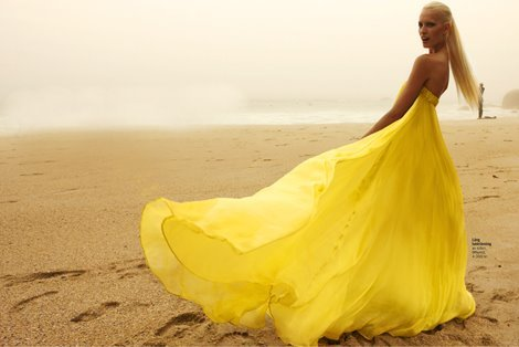 amarillo, beach, dress, playa, vestido