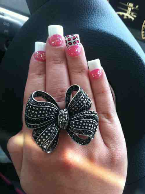 amazing, animal prints, cool, cute, girl, girls, girly, jewelry, lady, nails, pink, pinky, pretty, ring, stuff, trashy