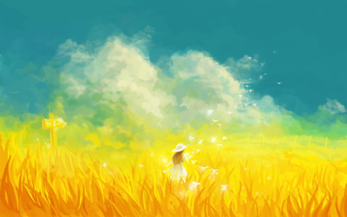 amazing, anime, art, cute, field