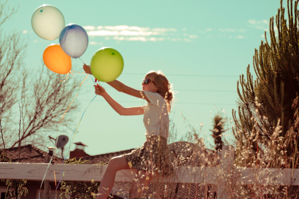 amazing, balloons, beautiful, blonde, clouds