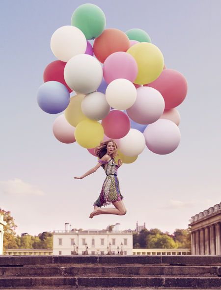 amazing, baloons, fly, girl