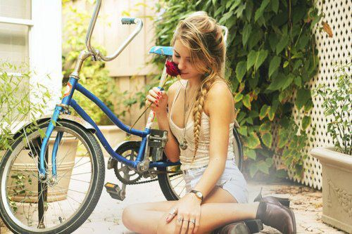 amazing, bike, blonde, cute, girl