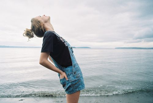 analog, beautiful, girl, pretty, skinny, vintage, water