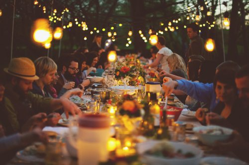 analog, drink, eat, food, fun, lights, party, people, photography, trees, wood