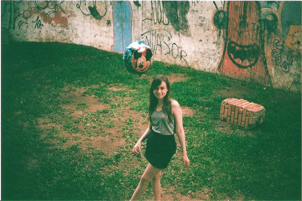 analogic, balloon, film, girl, hipster
