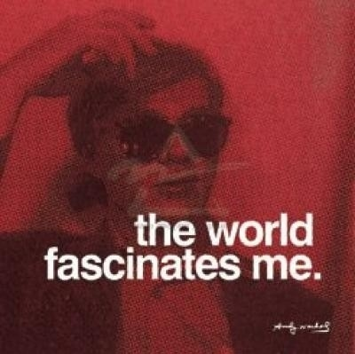 andy warhol, fashion, girl, quote, retro