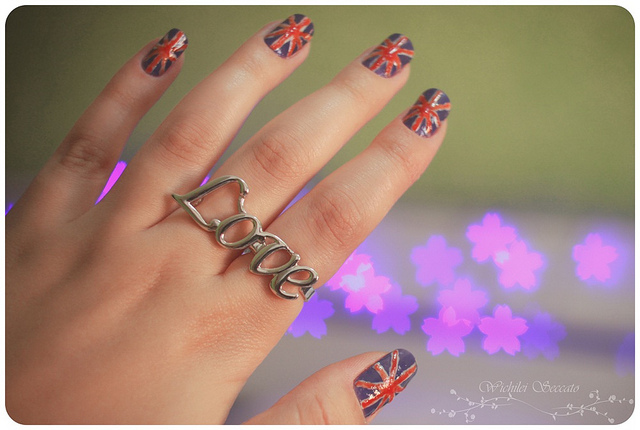 anel, art nails, bokeh, bokeh flowers, england