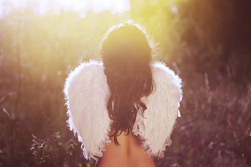 angel, girl, hair, photography, wings