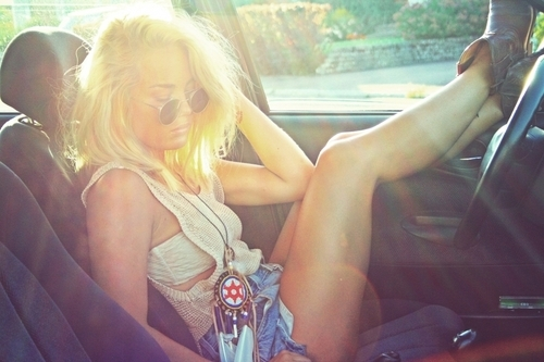 angelica blick, blonde, car, fashion, girl