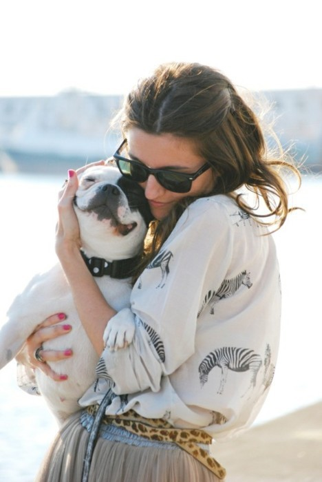 animal, beautiful, best friend, bff, black, blue, bulldog, cute, dog, fashion, friend, girl, hair, hug, love, love you, nail, nice, pet, ray ban, red, shine, smile, sun