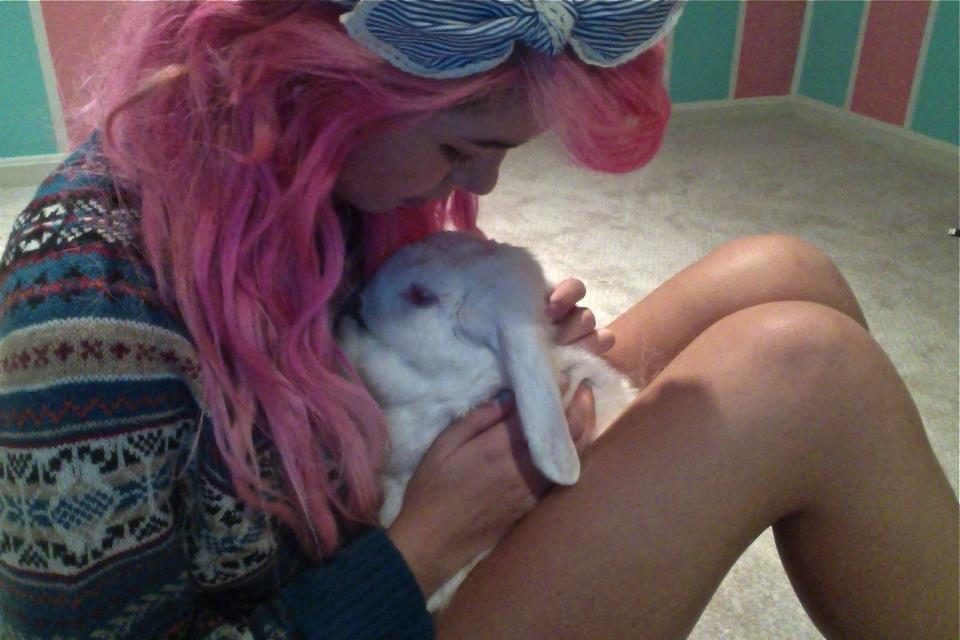 animal, bunny, cute, girl, hipster