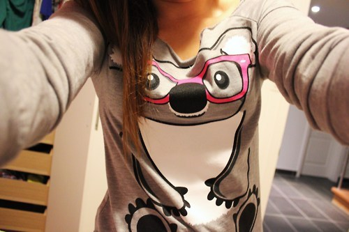 animal, clothes, cute, girl, glasses