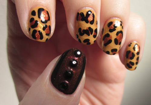 animal print, art, beauty, brown, cheetah, cute, design, dots, hand, nail art, nail design, nail polish, nailpolish, nails, photo, polish, pretty, rhinestones, tan